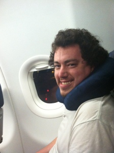 plane with neck pillow